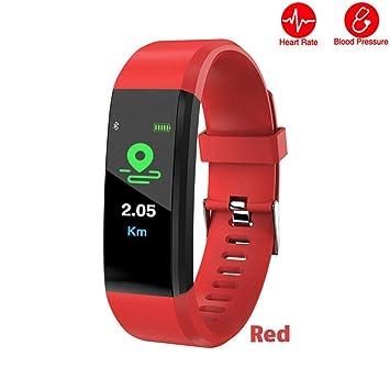 KANGLE Reloj de Seguimiento de Actividad,Rastreador de Ejercicios Pulsera Inteligente con Control de sueño y frecuencia cardíaca para Hombre y Mujer: ...