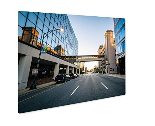 Ashley Giclee Metal Panel Print, Modern Buildings And Friendly Avenue In Downtown Greensboro No, 8x10, - Center The Greensboro Friendly