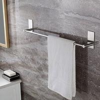 Leyden TM 3M Self Adhesive Stainless Steel Bathroom Single Towel Bar Holder Hanging Rack, Brushed Nickel