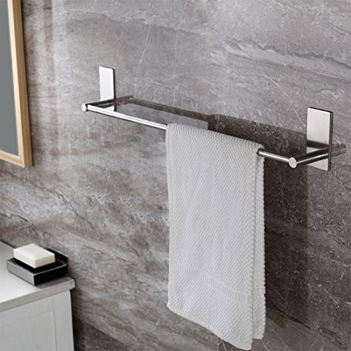 Leyden TM 3M Self Adhesive 16-Inch Stainless Steel Bathroom