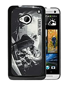 New Fashion Custom Designed Cover Case For HTC ONE M7 With linkin park Black Phone Case