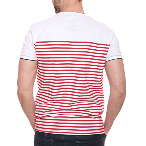 "Pocket-Shirt ""Stripes"" - weiß / rot"