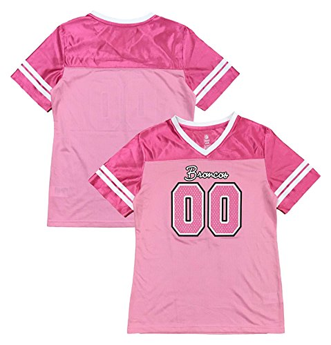 new product 2a91c d8b52 Outerstuff Denver Broncos Logo #00 Pink Dazzle Girls Toddler Jersey  (Toddler 2T)