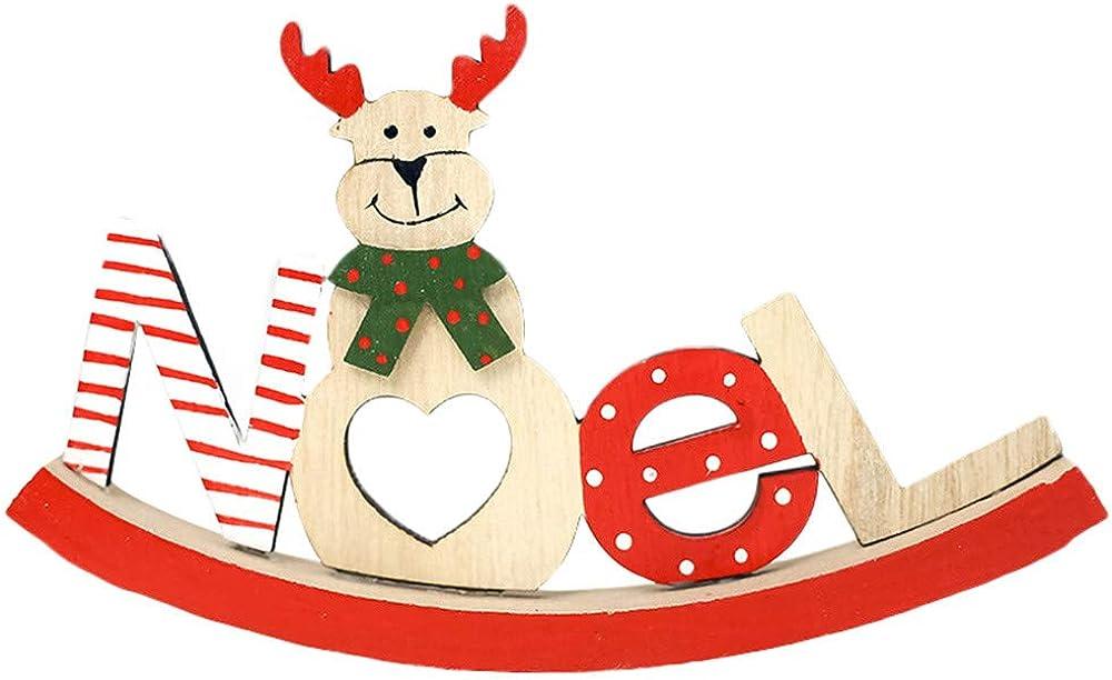 Navidad de Madera de Papa Noel/Muñeco de nieve/Reno Decoración Adornos para Casa Hogar Regalos de Navidad