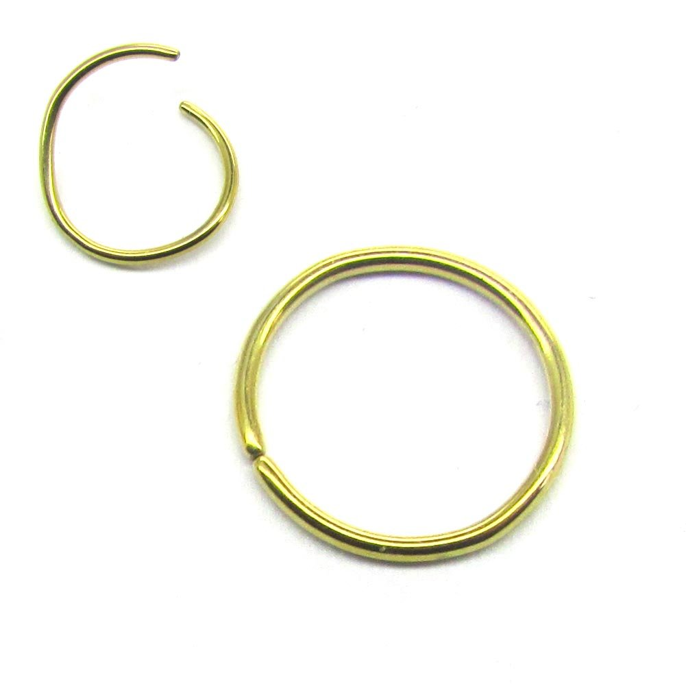 20G 316L Surgical Steel Annealed Seamless Nose Ring Helix Cartilage Rings Continuous Split Hoop NewkeepsR C-204