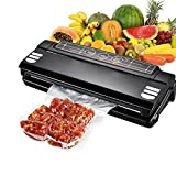 Food Saver Vacuum Sealer Automatic Bag Sealing with Starter Kit for Sous Vide, Food Preservation, Clothing, Paperwork, Jewelry