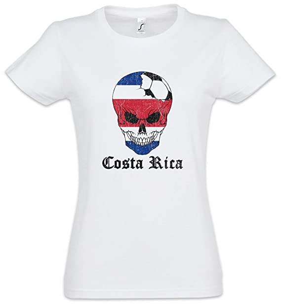 Urban Backwoods Costa Rica Football Skull I Mujer Girlie Women T-Shirt Tamaños XS –