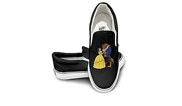 434817e45340c Amazon.com: TAYC Beauty And The Beast Wear-resisting Shoes Black ...