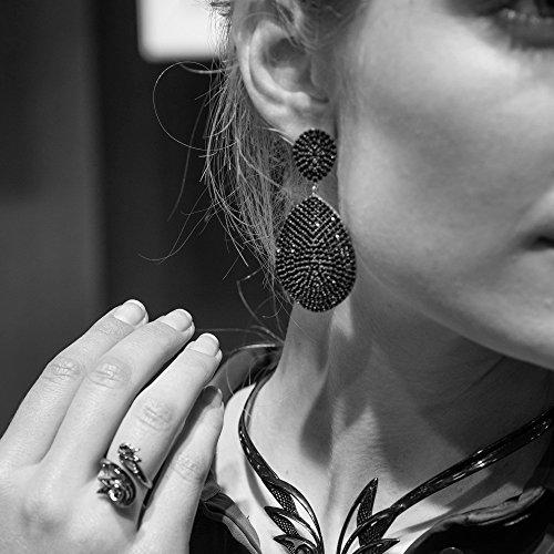Monte Carlo Earring Rosegold Sapphire Zircon