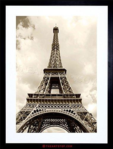 The Art Stop Vintage Photo Landmark Eiffel Tower Sepia Framed Print F12X3278 -