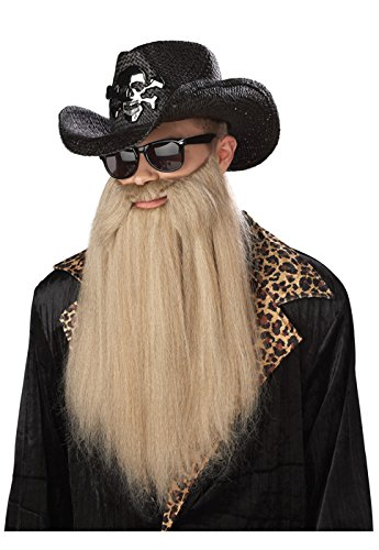 California Costumes Sharp Dressed Man Beard, Blonde, One Size Costume Accessory (Blues Zz Top)