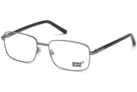 79b0fae548 Montblanc Rectangular Eyeglasses MB530 012 Size  56mm Dark Ruthenium Gray  530