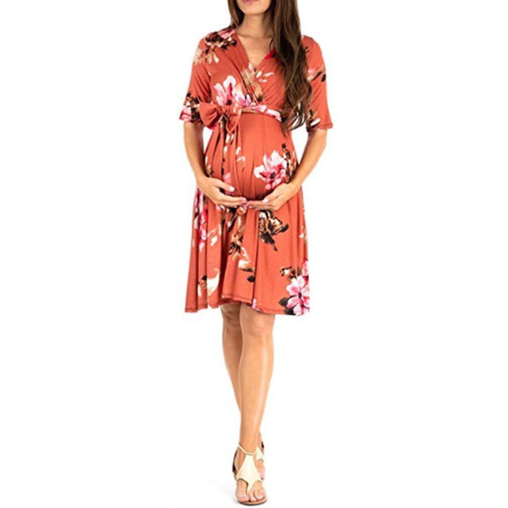 Kleider Gagacity Mama Kleid Umstandskleid V Ausschnitt ...