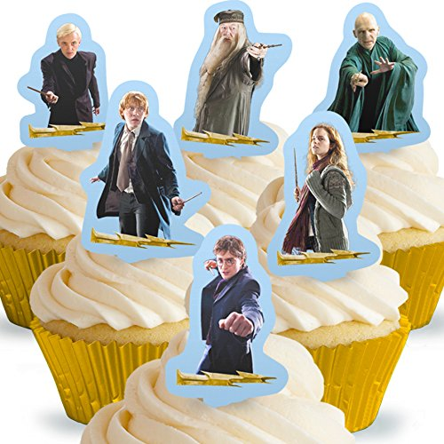 - Cakeshop 12 x PRE-CUT Harry Potter Stand Up Edible Cake Toppers