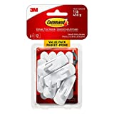 Command 17002C-VP Utility Hooks Value Pack, Small, White, 6 Hooks 12 Small Strips