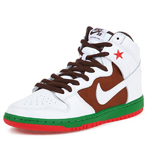 NIKE Men's Dunk High Premium SB, Pelican/White, 9.5 M US