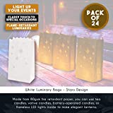 White Paper Luminary Bags - 24-Pack Candle