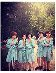 It cast relaxing in robes with ice cream 8 x 10 Inch Photo