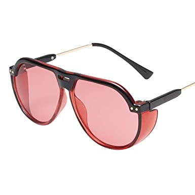 Amazon.com: NUF Sunglasses For Women Men Vintage Big Frame ...