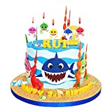 Toys : Cute Baby Shark Birthday Candles - Baby Shark Party Supplies, Cute Baby Shark Cake Decorations for Kids, Perfect for Birthday Party, Children Carnival Party and Baby Shower - Set of 5