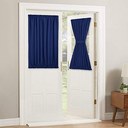 Amazon Com Pony Dance French Door Curtain Top And Bottom Rod