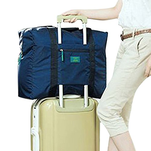 BXT Waterproof Lightweight Multifunctional Travel Trolley Pouch Large Capacity Folding Duffel Clothes Organizer Storage Packing Bag for Luggage, Sports Gear or Gym