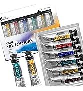 PHOENIX Artist Grade Oil Paint Set 6 Tubes x 40ml (1.35 Oz.) - Oil Painting Colors for Profession...