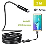 Auto-Partner 5.5mm Android Endoscope 2M Long OTG Micro USB Endoscope Waterproof Borescopes Inspection Camera with 6 LED