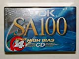TDK SA100-4 100-Minute High Bias IECII/Type II Blank Audio Cassette (4-Pack)