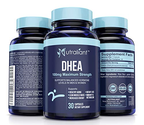 Hgh Booster Immune Vital - DHEA Digestive Aids for Adults 100mg Max Strength Supplement Pills - Hormone Balance for Women & Men - DHEAS Best Hormonal Support Healthy Aging, Lean Muscle, Energy, Weight Loss, Immune & Metabolism