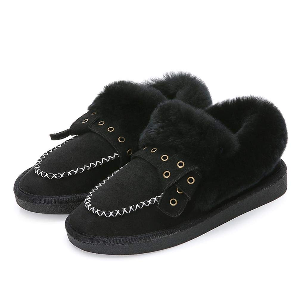 Nyrgyn Große Winterschuhe Plus Flache Schuhe Aus Samt