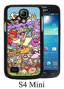 Samsung Galaxy S4 Mini case,Unique Design Adventure Time Black cell phone case for Samsung Galaxy S4 Mini