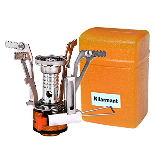 Kllarmant KL01 Ultralight Portable Collapsible Outdoor Backpacking Camping Stoves With Piezoelectric Lgnition - Multi Fuel Camping Stoves