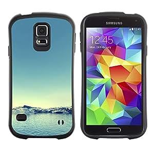 Suave TPU GEL Carcasa Funda Silicona Blando Estuche Caso de protección (para) Samsung Galaxy S5 / CECELL Phone case / / Arctic Snow Winter Teal Blue Water /