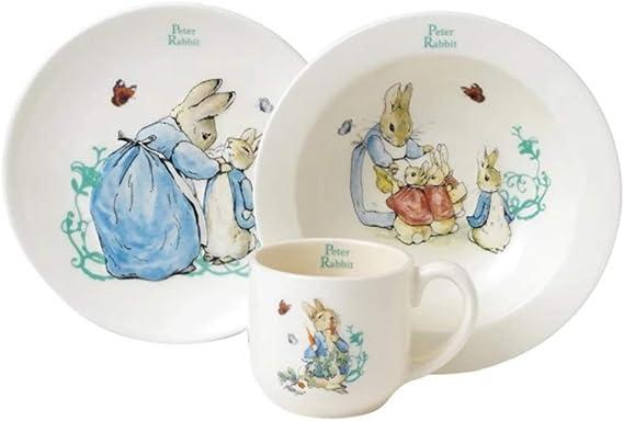 Amazon.com: Beatrix Potter Peter Rabbit Nursery Set, 3 Pieces - White: Toys & Games