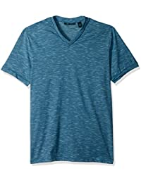 Men's Texture Slub V-Neck Tee Shirt