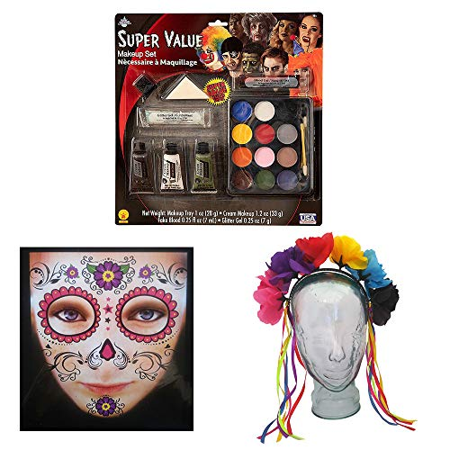 Sugar Skull Face Makeup - 05 Day of The Dead Face