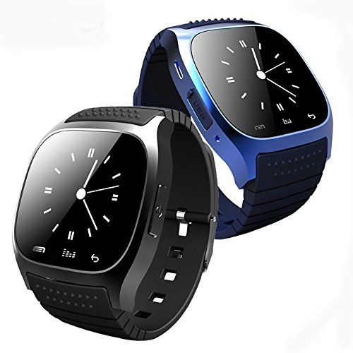 Amyove Fashion Leisure Bluetooth Touch Screen Smart Wrist Watch Waterproof Multifunction Smartwatch for Android/iOS Samsung iPhone HTC Phone
