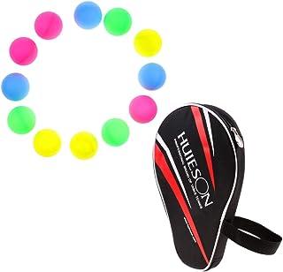 perfk Sac Cas de Protection de Tennis de Table/Ping-Pong + 6 Balles de Tennis Table
