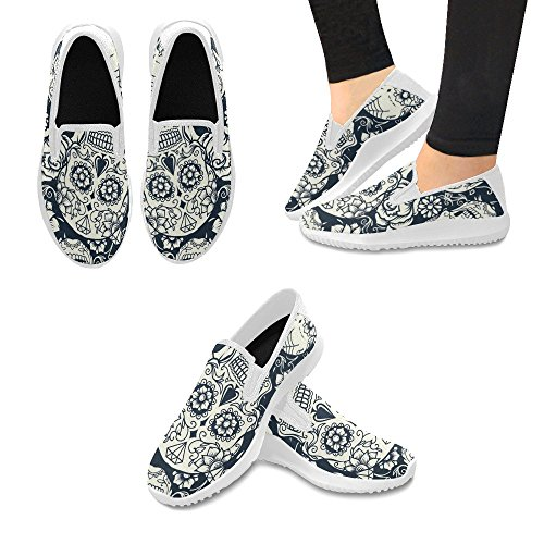 InterestPrint Womens Slip-On Loafer Shoes Canvas Fashion Sneakers Multi 12 ADfRW147L