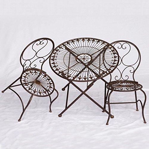 Kindertische und Stühle Gartengarnitur Kindermöbel Set 1 Tisch & 2 Stühle braun