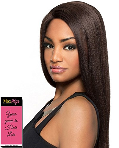 Charli Wig Color 1 Black - Foxy Lady Wigs Long Straight J Lace Front Heat Friendly Synthetic African American Bundle w/MaxWigs Hairloss Booklet