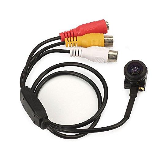 Ccd Pinhole Camera (Vanxse® Cctv Mini Spy Pinhole Audio Security Camera Sony CCD Hd 1.8mm 120degree 800tvl Hidden Mini Microphone Mic Cctv Surveillance)