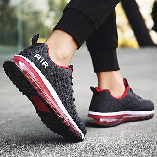 Bequeme Laufschuhe Damen Shoes Laufschuhe Rot Air Running 44 35 Schwarz Herren MIMIYAYA Sportschuhe Unisex Schnürer qTnfwWX
