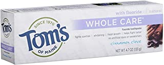 product image for Tom's of Maine Whole Care with Fluoride Natural Toothpaste, Cinnamon-Clove 4.7 oz (Pack of 4)
