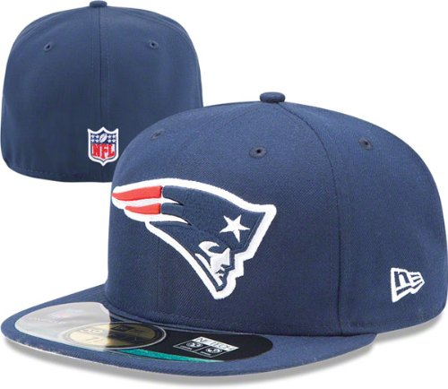 bc2a01aa538f2 Amazon.com : NFL New England Patriots On Field 5950 Game Cap, Navy ...