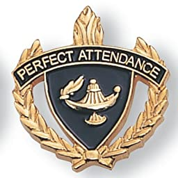 Perfect Attendance Lapel Pin - Pack of 12