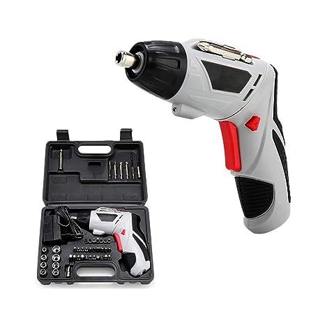 Destornillador eléctrico, 45 piezas Juego de brocas 4V ...