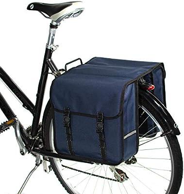 BikyBag-Beluko Clásica Doble Alforjas Bolsa para Bicicleta (Azul ...