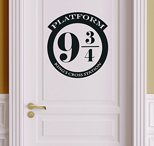Platform 9 3/4 Version 1 Harry Potter Decor - Wall Decal Vinyl Sticker W20 12'x11' (Message for Color)]()